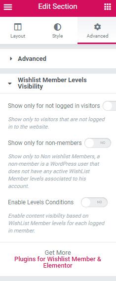 Dynamic Visibility for Wishlist Member & Elementor - Setup 1