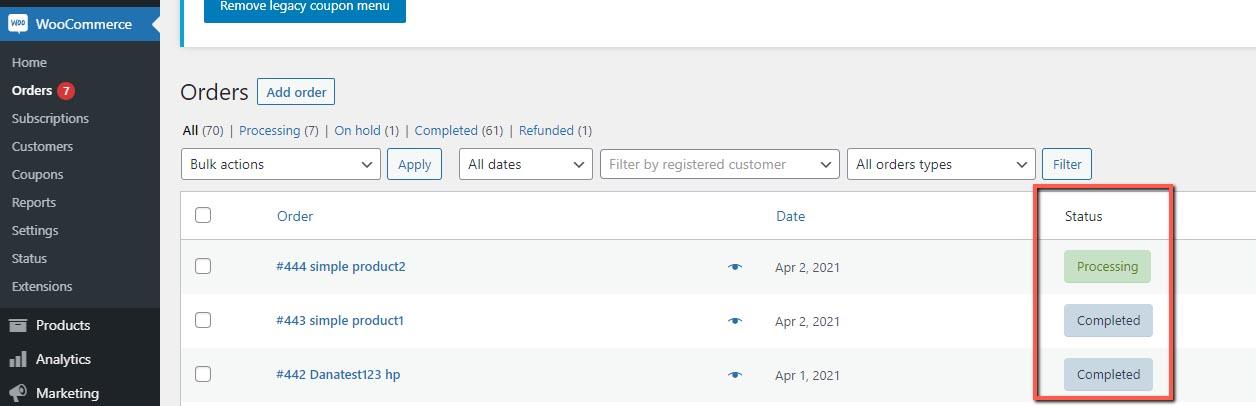 MemberPress WooCommerce Plus - WooCommerce Menu Order Status