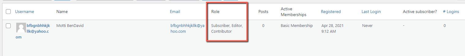 MemberPress WooCommerce Plus - WordPress User Roles Table