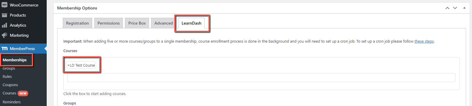 Step #1 – Integrate MemberPress and LearnDash