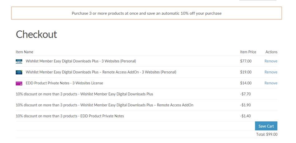 EDD Discounts Pro - Volume Discount