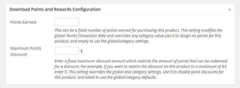EDD Points and Rewards Configuration