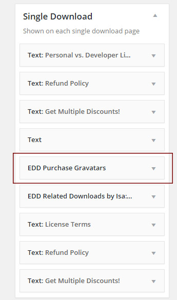 Easy Digital Downloads – Purchase Gravatars (Backend)