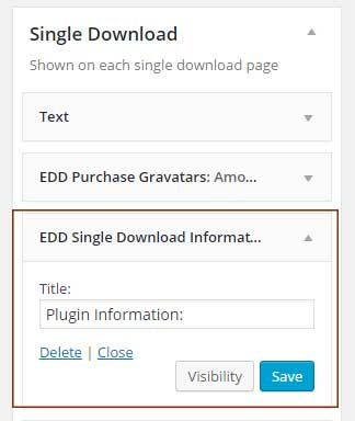 EDD Single Download Sidebar Widget