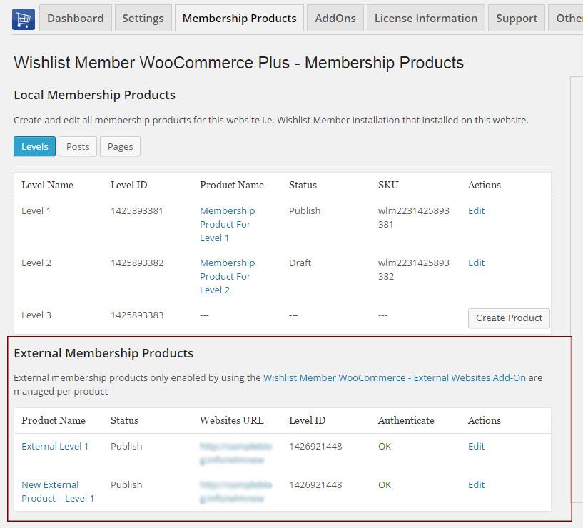 Wishlist Member WooCommerce Plus – External Membership Sites (AddOns Bundle)
