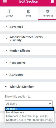 WishList Member Elementor Integration Setup