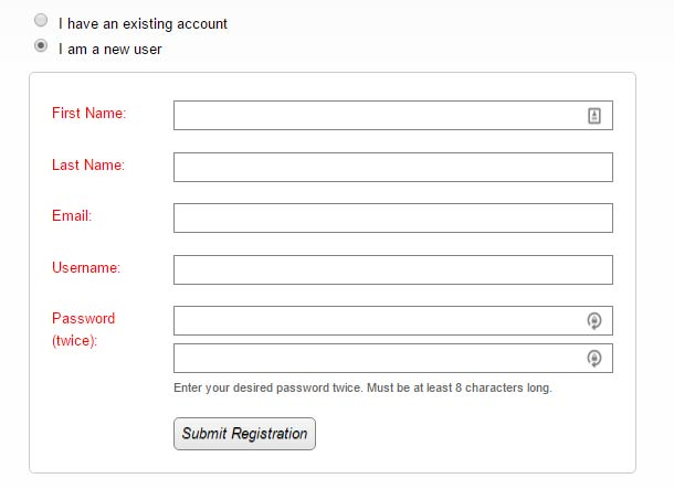 Wishlist Member Registration Form