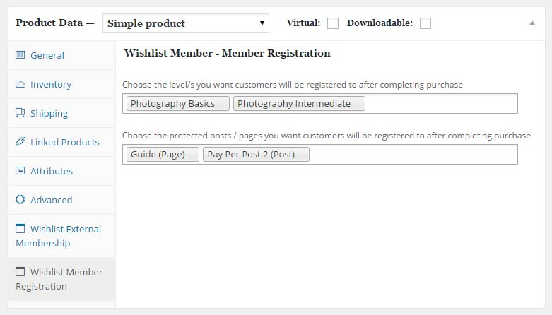 Wishlist Member WooCommerce Plus - Member Registration Add-On