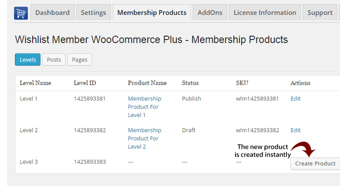 Wishlist Member WooCommerce Integration