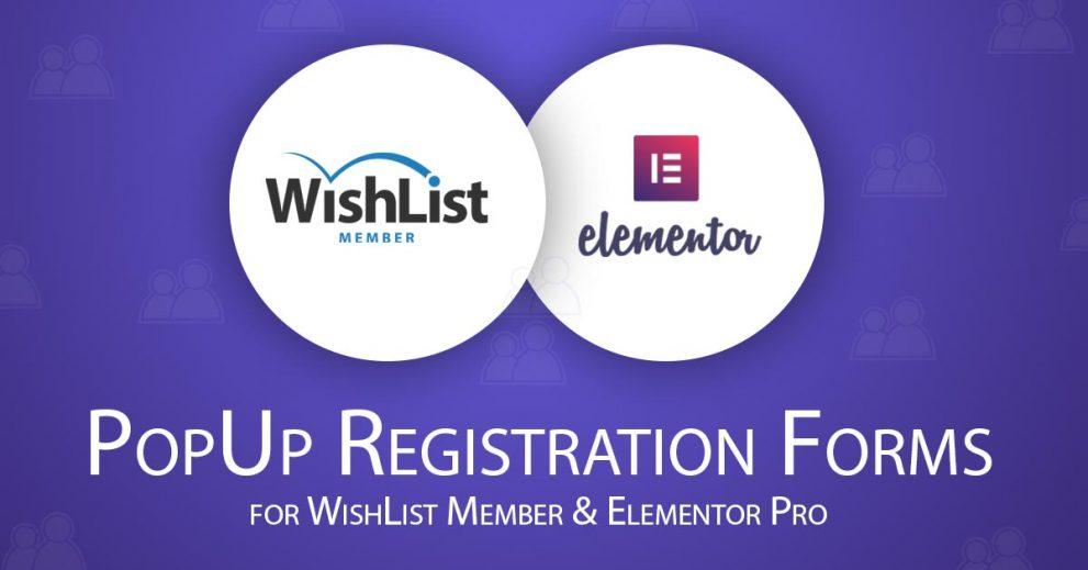 Easily Creating Popup Registration Form for WishList Member using Elementor Popups